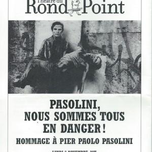 Pasolini – Theâtre du Rond-Point